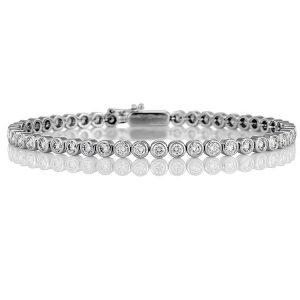 Bratara OBSIDIAN Tennis Zirconii Rotunde Argint
