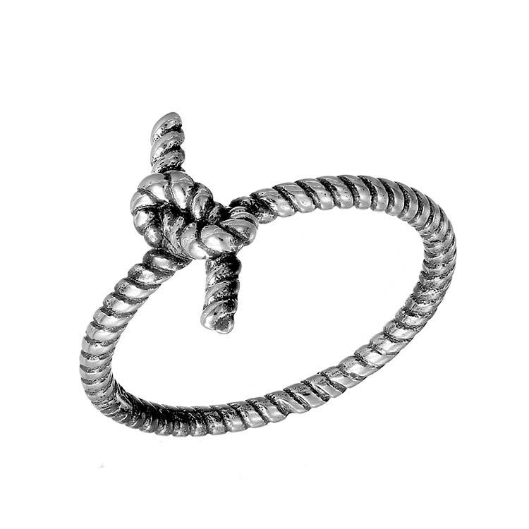 Inel Infinity Knot din Argint