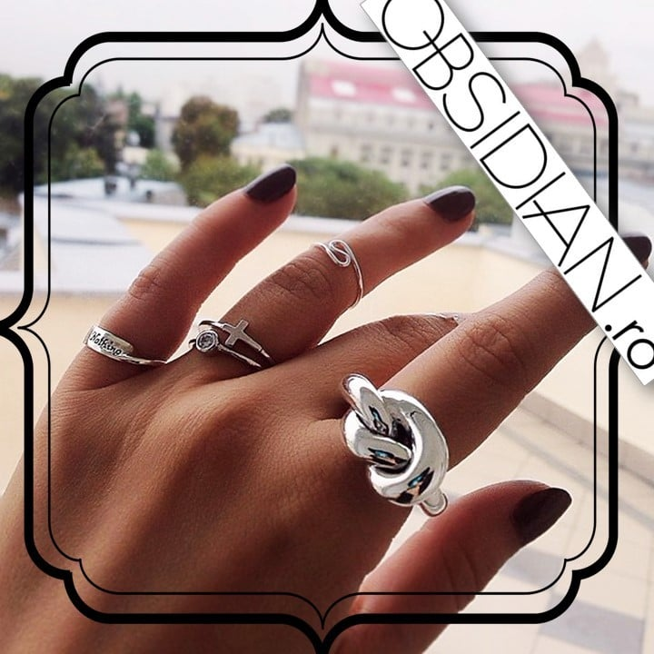 Inel Gordian Knot din Argint