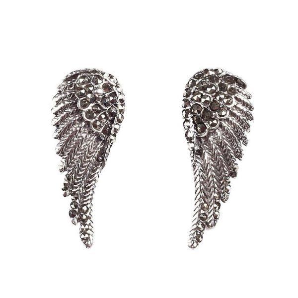 Cercei Dark Wings din Argint