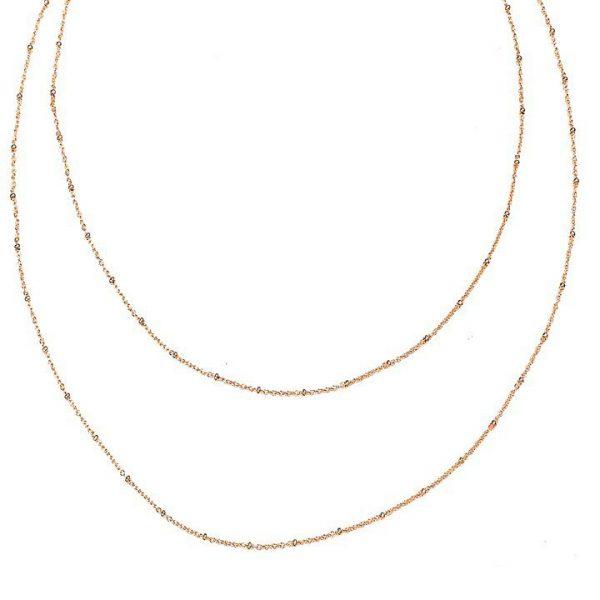 Lant XL Rosé din Argint Aurit