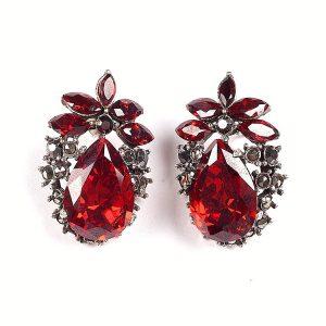 Cercei Royal Red din Argint