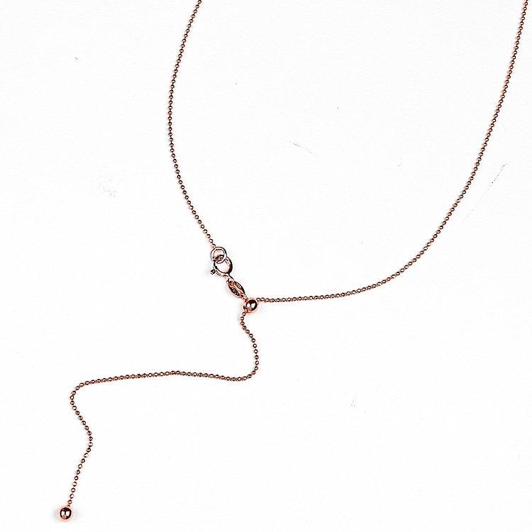 Colier Rosé Sliding Chain S din Argint Aurit