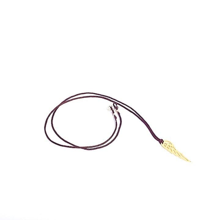 Colier Wing String din Argint Aurit
