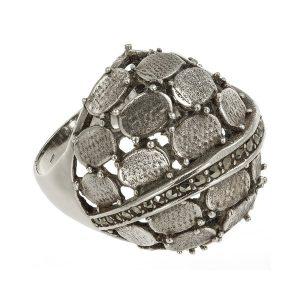 Inel Chainmail din Argint Antichizat
