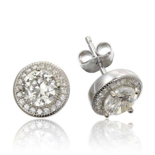 Cercei Mici din Argint & Zirconii