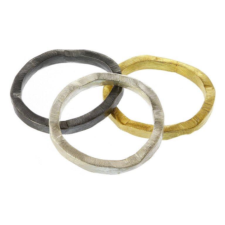 Inele Half Olimpics din Argint Mat - Set