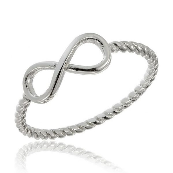 Inel Slim Infinity din Argint