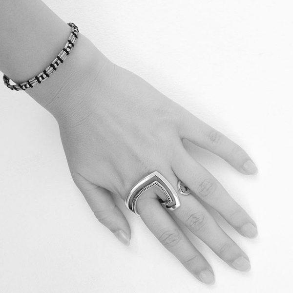 Inel Ringcuff din Argint