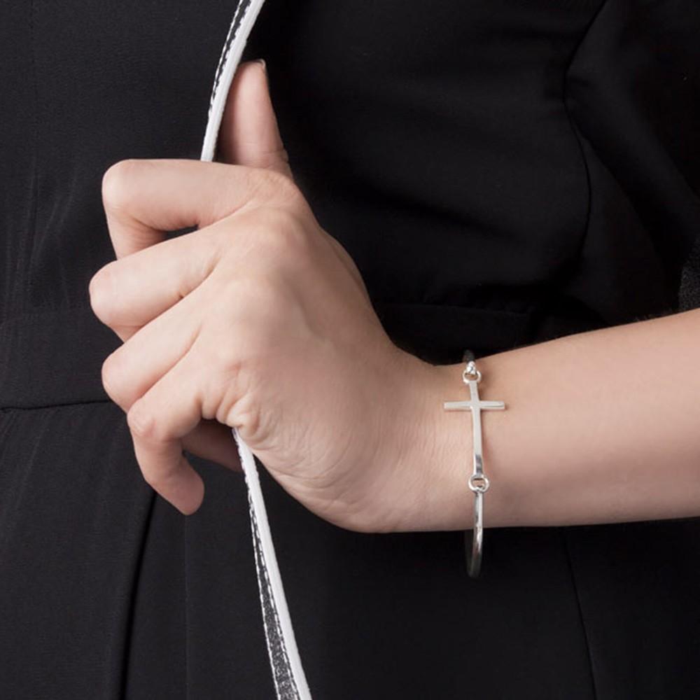 Bratara Fixa Infinity Cross din Argint