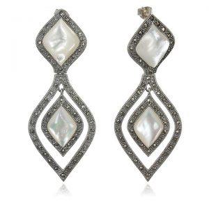 Cercei Hour-Glass Bride din Argint