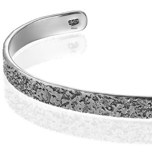 Bratara Mankind Battered Silver Argint