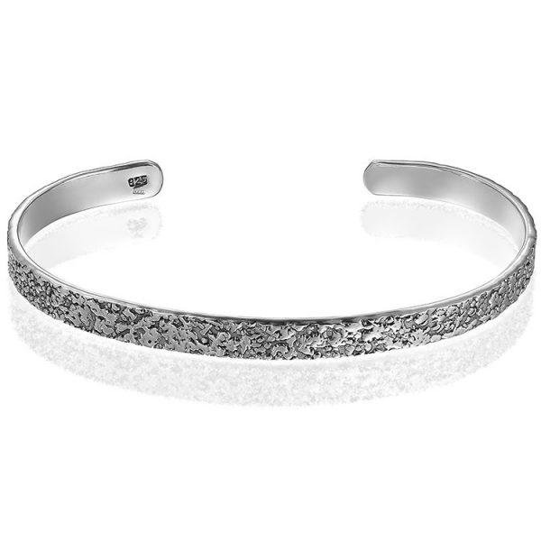 Bratara Mankind Battered Silver din Argint