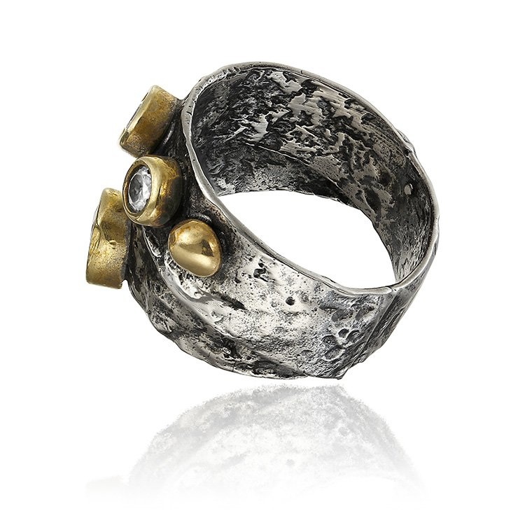 Inel OBSIDIAN Umbria Zirconia din Argint