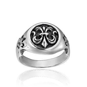 Inel Fleur de Lis ManKind din Argint