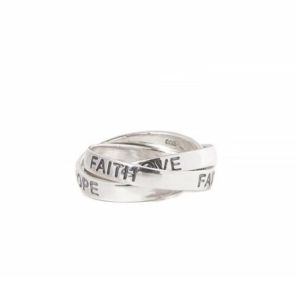 Inel Faith Love Hope din Argint