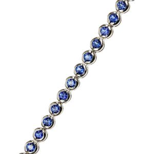 Bratara Tennis Round Blue din Argint