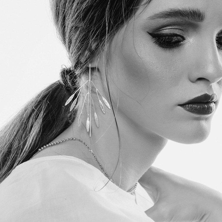 Cercei-Anna-Poda's-din-Argint