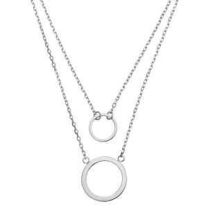Colier Ring Ring din Argint