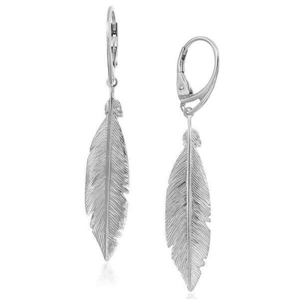 Cercei-Phoenix-Feather-din-Argint-1