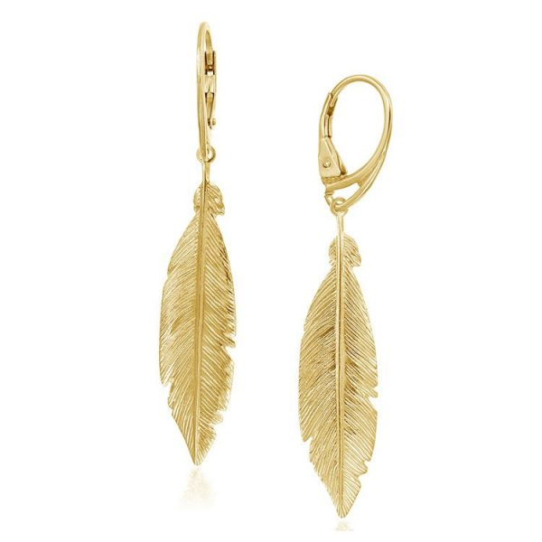 Cercei-Phoenix-Feathers-din-Argint-Aurit-1