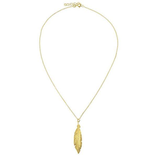 Colier-Phoenix-Feather-din-Argint-Aurit-1