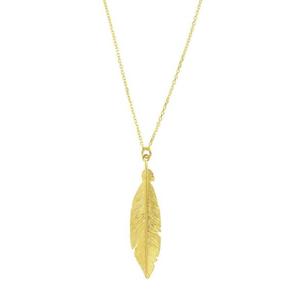 Colier-Phoenix-Feather-din-Argint-Aurit-2