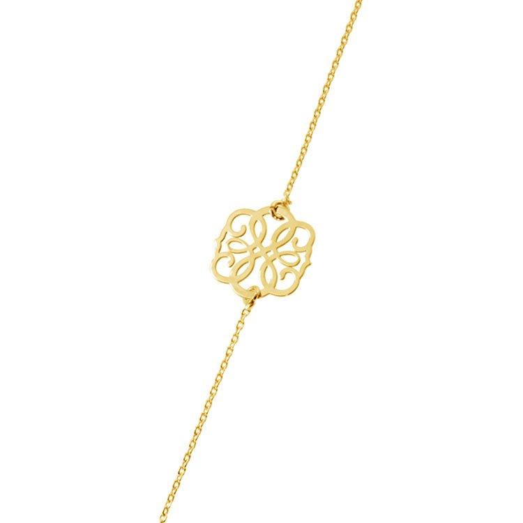 Bratara Infinite Calligraphy din Argint Aurit