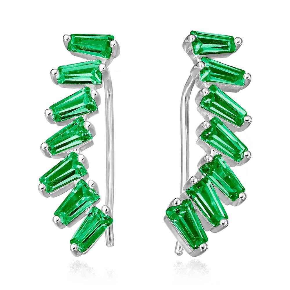 Cercei Zibeline Vert Earcuff din Argint-1