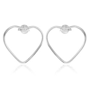 Cercei Hollow Hearts din Argint