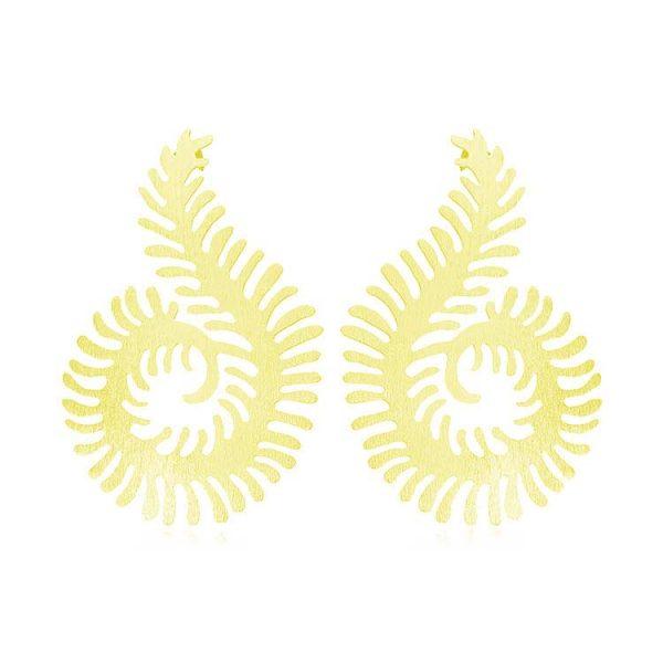 Cercei-Satin-Fern-din-Argint-Aurit-1