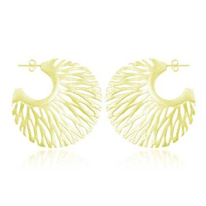 Cercei Solaris din Argint Aurit
