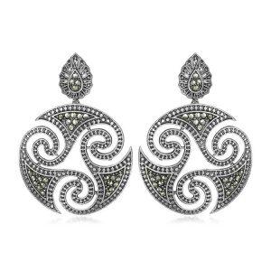 Cercei Triskelion din Argint