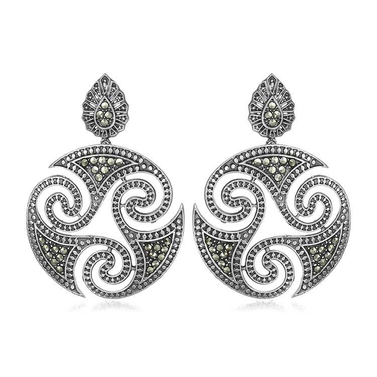 Cercei-Triskelion-din-Argint-1