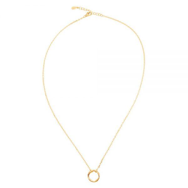Colier-Inner-Circle-din-Argint-Aurit-Rose-1