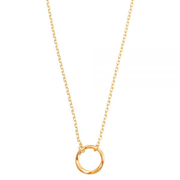 Colier-Inner-Circle-din-Argint-Aurit-Rose-2