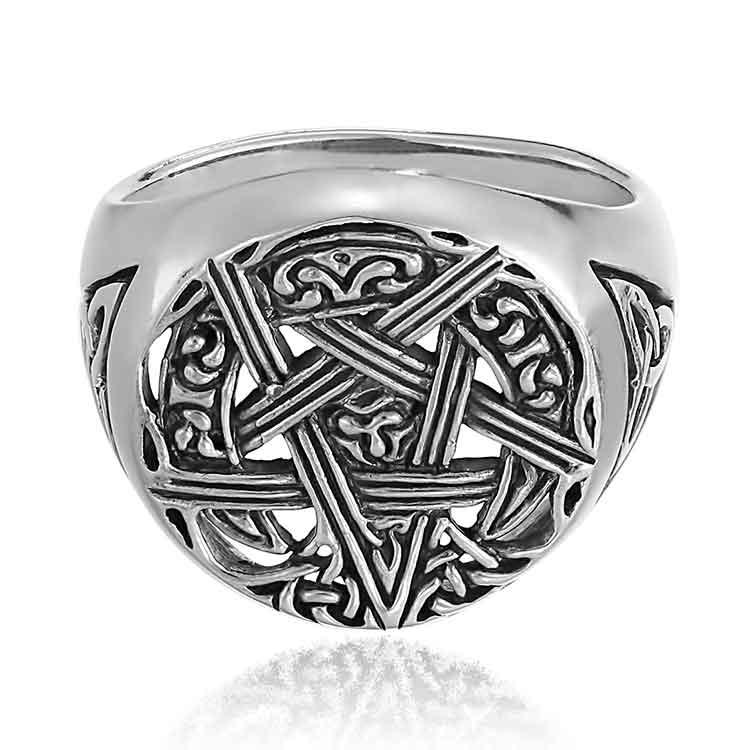 Inel-Mankind-Pentagram-Argint-1