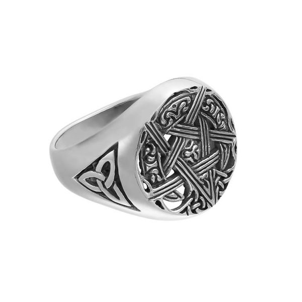Inel-Mankind-Pentagram-Argint-2