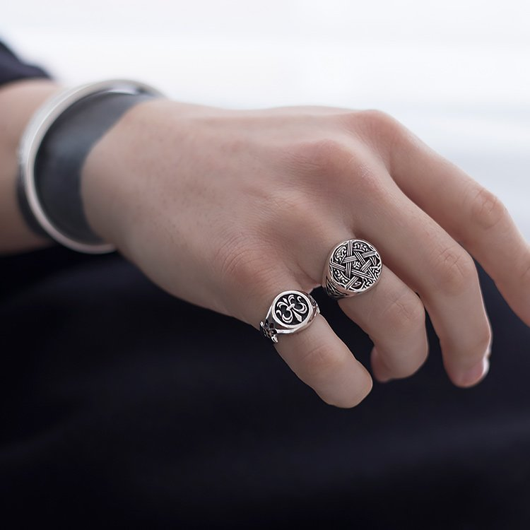 Inel-Pentagram-ManKind-din-Argint