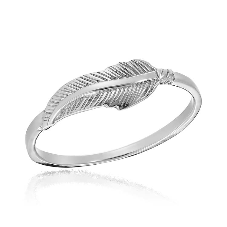 Inel Slim Feather din Argint