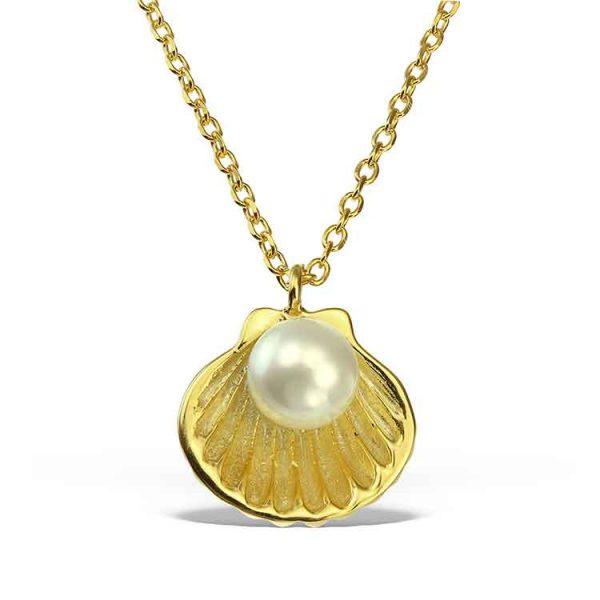 Colier-Birth-of-Venus-din-Argint-Aurit-1