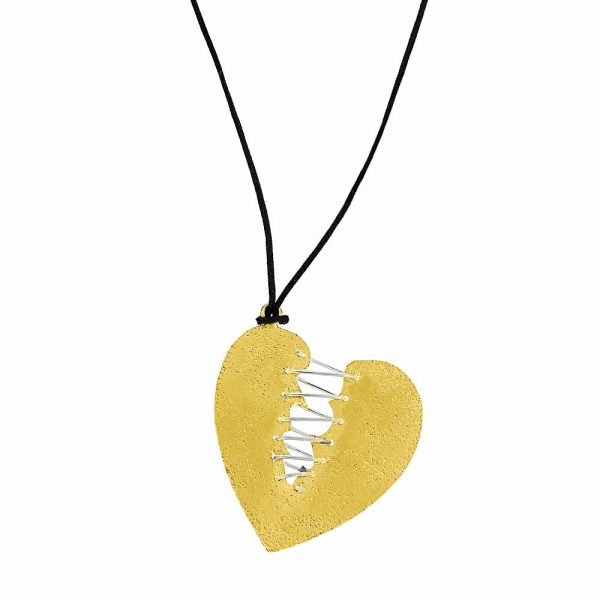 Colier-How-to-mend-a-broken-heart-din-Argint-Aurit-1
