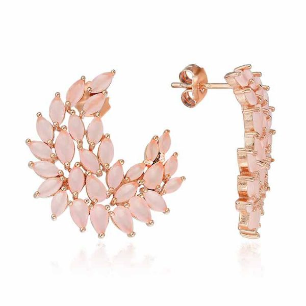 Cercei-DeLauretis-Pink-din-Argint-Aurit-Rose-1