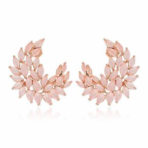 Cercei-DeLauretis-Pink-din-Argint-Aurit-Rose-2