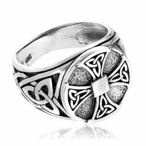 Inel ManKind Rune Cross din Argint