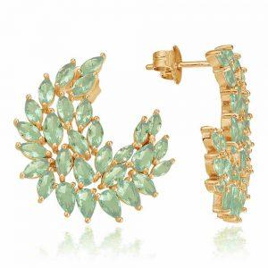 Cercei-DeLauretis-Vert-din-Argint-Aurit-Rose-1