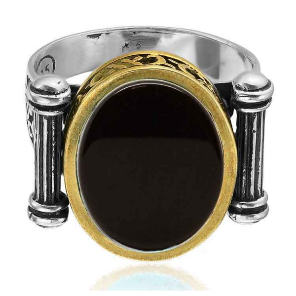 Inel Mankind Black Zaire din Argint