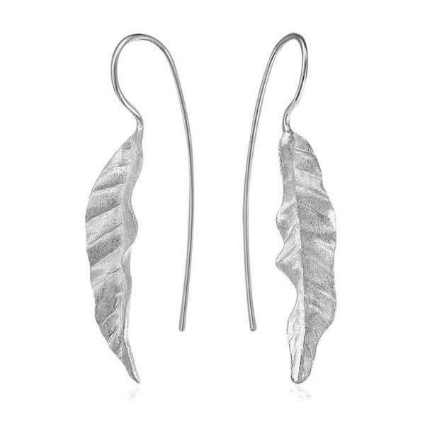 Cercei Leaf Blade din Argint