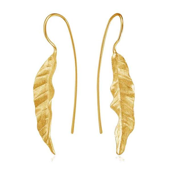 Cercei-Leaf-Blade-din-Argint-Aurit-1