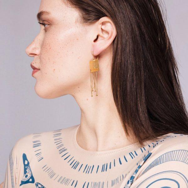 Cercei-A-Klimt-Kiss-din-Argint-Aurit-2